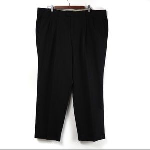 T593 Dockers Relaxed Fit Black Pleat Cuff Pants